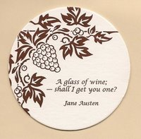 Jane Austen Wine Coaster
