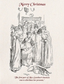 Jane Austen Christmas Card